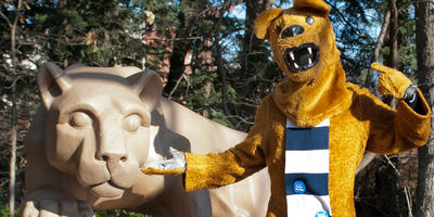 Lion shrine and Lion mascot