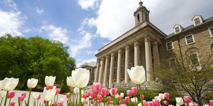 Old Main in the spring time